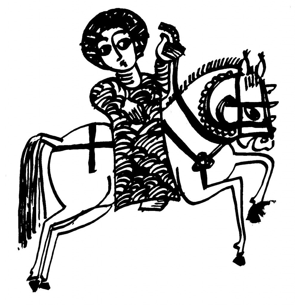 Interpreter on horseback